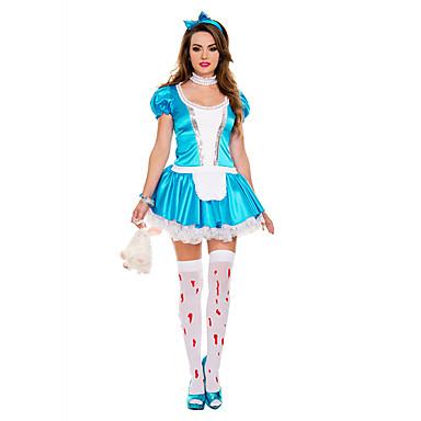 Cosplay Kostüme Party Kostüme Dienstmädchenuniform Karriere Kostüme Film Cosplay Kleid Kopfbedeckung Halloween Karneval Frau