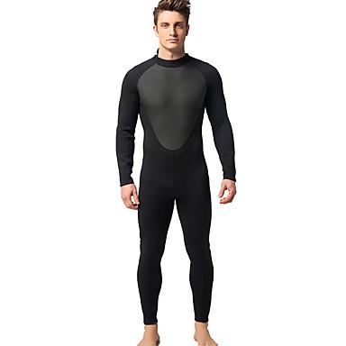 Herre Heldekkende våtdrakt 3mm Dykkerdrakter Hold Varm, Ultraviolet Motstandsdyktig Langermet - Svømming / Dykking / Surfing Glidelås Bak
