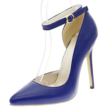 Mulheres Sapatos Sintético / Courino / Couro Ecológico Primavera / Verão Conforto / Inovador / Chanel Saltos Salto Agulha Dedo Apontado