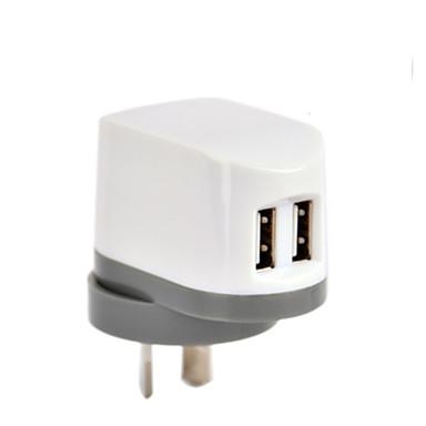 certyfikat CE podwójna ładowarka USB ściany, au / Nowa Zelandia Korek, 5V wyjście 2.4a, dla iPhone 5 iPhone 6 / plus, ipad powietrza /