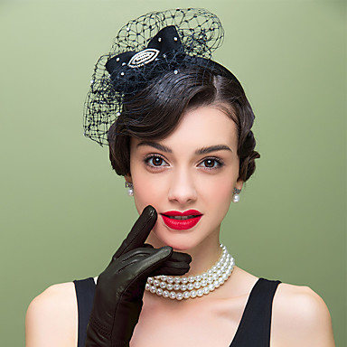 ull strass netto fascinators headpiece klassisk feminin stil
