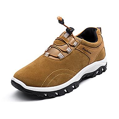 Herrn Schuhe PU Frühling Herbst Komfort Sportschuhe Wandern Schnürsenkel für Normal Schwarz Grau Gelb Blau