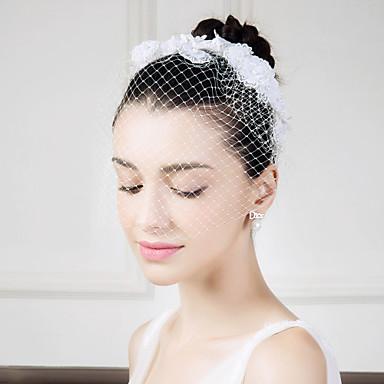 blonder nettverkspenner fuglcage slør headpiece klassisk feminin stil