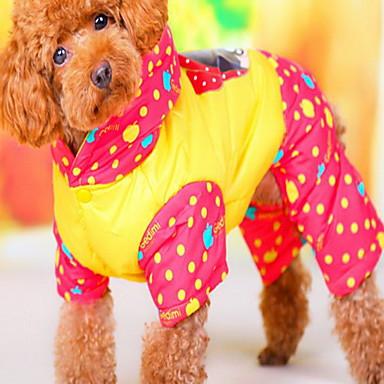 Hund Mäntel Hundekleidung Niedlich Kartoon Gelb Grün
