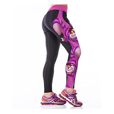 Dame Tights til jogging Treningstights Fort Tørring Pustende Elastisk Komprimering Innerlag Tights Bunner Yoga & Danse Sko Trening &