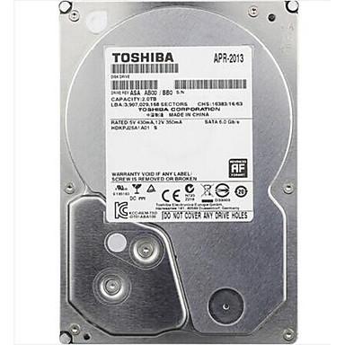 Toshiba 2TB DVR unidad de disco duro 5700rpm SATA 3.0 (6 Gb / s) 32MB Cache 3.5 pulgadas-DT01ABA200V