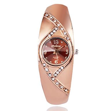 cheap Women's Watches-Women's Fashion Watch Wrist Watch Diamond Watch Quartz Rose Gold Plated Brown / Rose Gold Imitation Diamond / Analog Ladies Casual Elegant - Rose Gold