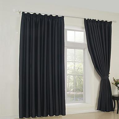 Verdunklungsvorhänge Vorhänge Schlafzimmer Solide 65% Rayon / 35% Polyester / Kunstseide / Verdunkelung