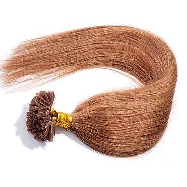 evet brazil köröm tip haj az emberi haj u tip hajhosszabbítás 0,5 g / szál 100strands / tétel
