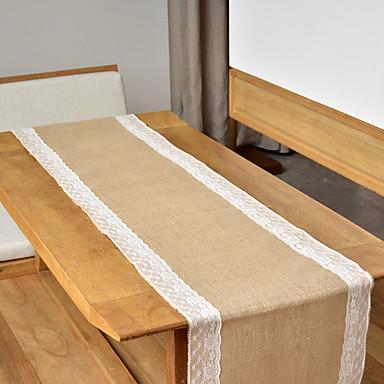 رخيصةأون ديكورات الطاولات-الجوت مركز الجدول قطعة - غير مخصص قماش الطاولة زهور 1 شتاء ربيع صيف خريف كل الفصول