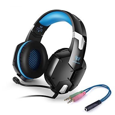 KOTION EACH G1200 Over øre Pannebånd Med ledning Hodetelefoner Piezoelektricitet Plast Gaming øretelefon Med volumkontroll Med mikrofon