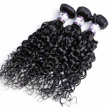 Hintli Saçı Kıvırcık Örgü Bukle İnsan saç örgüleri 3 Parça 0.45