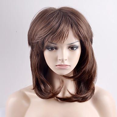 Pelucas sintéticas Ondulado Amplio Pelo sintético Marrón Peluca Mujer Corta Sin Tapa