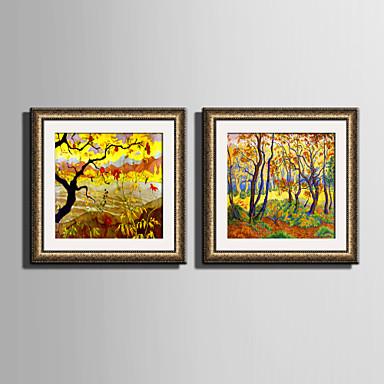 Quadros Emoldurados Conjunto Emoldurado Floral/Botânico Arte de Parede, PVC Material com frame Decoração para casa Arte Emoldurada Sala