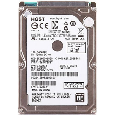 HGST Laptop / Notebook Hard Disk Drive 500GB 5K1000