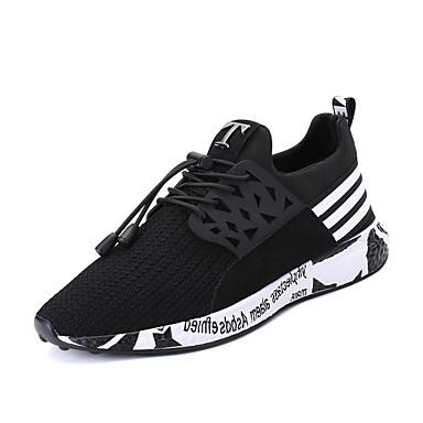 Hombre PU Primavera / Otoño Confort Zapatillas de Atletismo Paseo Antideslizante Negro / Gris / Azul