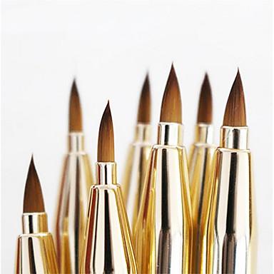1pcs Pincéis de maquiagem Profissional Pêlo Sintético Antibacteriano Metal