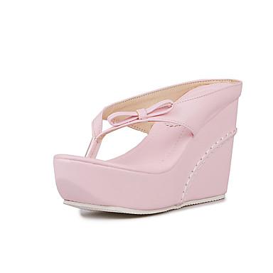 Mujer Zapatos PU Verano Confort Zapatillas y flip-flops Media plataforma Blanco / Negro Livraison Gratuite Le Meilleur Sites À Vendre FjvLeRgNZj