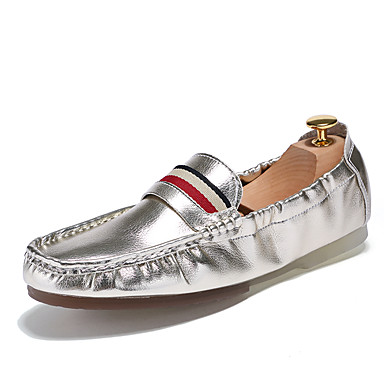 Men's Formal Shoes Patent Leather Summer / Fall Loafers & Slip-Ons White / Black / Silver / Party & Evening