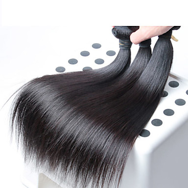 3 τεμάχια / παρτίδα Μαλαισίας ανθρώπινη ύφανση τρίχας, των μη επεξεργασμένων ειδών χονδρικής παρθένο Μαλαισίας ίσια μαλλιά