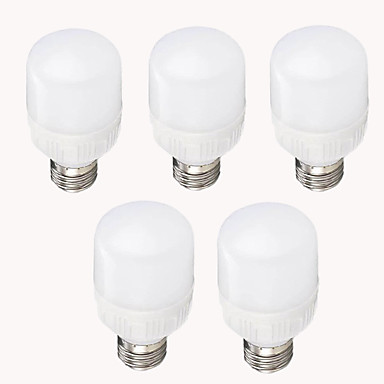 EXUP® 5pcs 7W 700-750lm E26 / E27 Bombillas LED de Mazorca T 12 Cuentas LED SMD 2835 Decorativa Blanco Cálido Blanco Fresco 220-240V