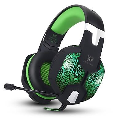 KOTION EACH G1000 Over øre / Pannebånd Med ledning Hodetelefoner Piezoelektricitet Plast Gaming øretelefon Med volumkontroll / Med
