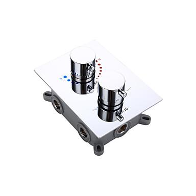 Kran tilbehør - Overlegen kvalitet - Moderne Messing Termostatventil - Bli ferdig - Krom