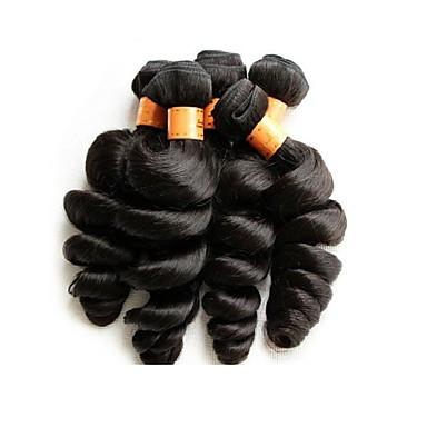 Großhandel brasilianischen lose Welle reines Haar 5bundles 500g viel 10a grade gute Qualität natürliche schwarze Farbe brasilianischen