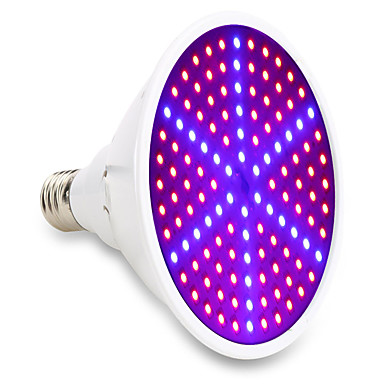 1pç 15 W 1000 lm E26 / E27 Lâmpada crescente 126 Contas LED SMD 5730 Decorativa Vermelho / Azul 85-265 V / 1 pç / RoHs / FCC
