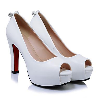 Soirée Femme ouvert Soirée amp; Bout à 05567483 Rouge club de Talon Noir Eté Printemps Chaussures Chaussures Chaussures Habillé Evénement Strass Talons Blanc Bottier amp; Evénement Polyuréthane Ug7rqfFOU