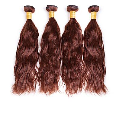Az emberi haj sző Brazil haj Természetes hullám 4 darab haj sző
