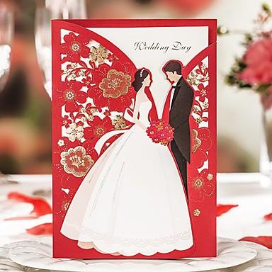 Hülle & Taschenformat Hochzeits-Einladungen Print Kartonpapier Muster / Druck