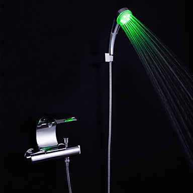 Grifo de bañera - Moderno Cromo Bañera y ducha Válvula Cerámica