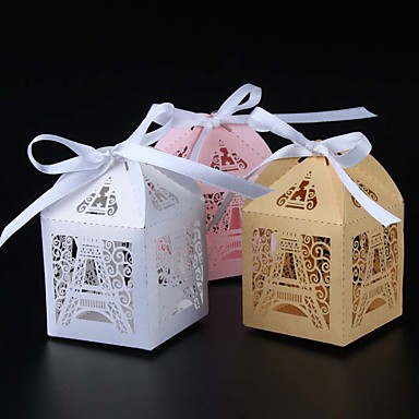 Redonda Quadrada Cubóide Papel Pérola Suportes para Lembrancinhas com Fitas Estampado Caixas de Ofertas