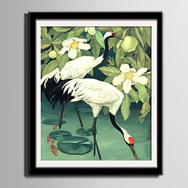 Quadros Emoldurados Conjunto Emoldurado Animais Floral/Botânico Arte de Parede, PVC Material com frame Decoração para casa Arte Emoldurada