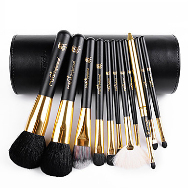 11 Makeup Brushes Set Goat Hair / Synthetic Hair / Others Limits bacteria / Hypoallergenic Face / Lip / Eye MSQ