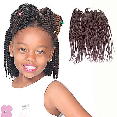 Cabelo para Trançar Senegal Tranças torção / Extensões de Cabelo Natural 100% cabelo kanekalon Tranças de cabelo Diário