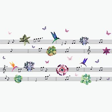 Dekorative Mur Klistermærker - Animal Wall Stickers Dyr / Mote / Musikk Stue / Soverom / Baderom