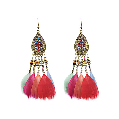 e8735b2e57b Women s Drop Earrings Feather Earrings Ladies Stylish Native American  Jewelry Black   Coffee   Rainbow For Wedding Party Special Occasion Party    Evening ...
