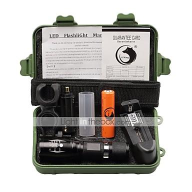 2000 lm LED Flashlights LED 5 طريقة - U'King زوومابلي / Adjustable Focus / قصاصة