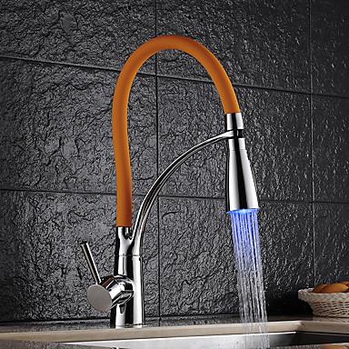 Kitchen Faucet - Art Deco / Retro Ulosvedettävä / pull-down Pesuallas / Messinki