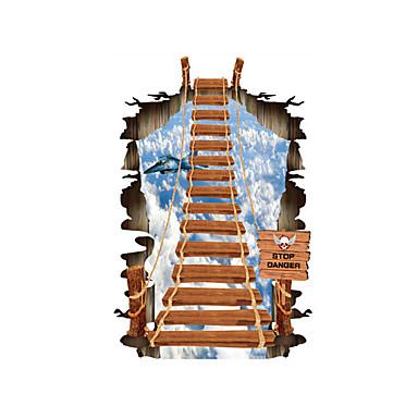 Autocolantes de Parede Decorativos - Autocolantes 3D para Parede Paisagem / Formas / 3D Sala de Estar / Quarto / Banheiro