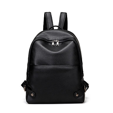 Women's Bags PU Backpack for Outdoor All Seasons Green Black Red