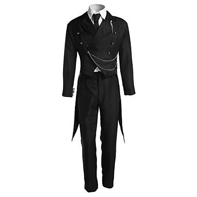 Inspiriert von Black Butler Sebastian Michaelis Anime Cosplay Kostüme Cosplay Kostüme Solide Langarm Weste Hosen Krawatte Smoking Für