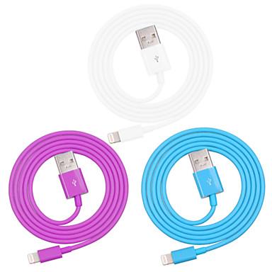 elma mfi iphone usb veri senkronizasyonu şarj kablosuna yıldırım sertifikalı 7 6s 6 artı se 5s 5 / ipad (100cm)