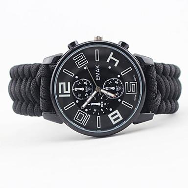 pulsera de la supervivencia - Reloj, Termómetro Táctico, Emergencia, Multi Function para Camping y senderismo / Pesca / Al Aire Libre - Nailon