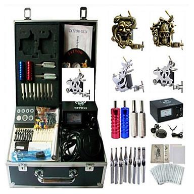Kit de tatuagem profissional 2xMáquina Tatuagem de aço para linhas e sombras 2 x máquina de tatuagem liga para revestimento e sombreamento