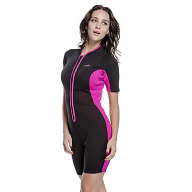 SBART Mulheres 2mm Roupas de mergulho Drysuits Mergulho Skins Macacão de Mergulho Curto Prova-de-Água Térmico/Quente Resistente Raios