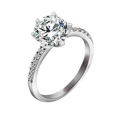 Dame Zirkonium Ring - Stilfull Sølv Ringe Til Bryllup / Fest / Spesiell Leilighet