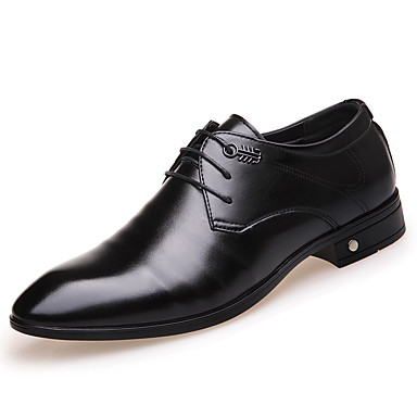 للرجال أحذية رسمية جلد ظبي ربيع / صيف / خريف مريح أوكسفورد مقاوم للماء أسود / الحفلات و المساء